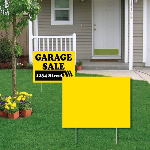 "VictoryStore Outdoor Yard Sign Blanks - Corrugated Plastic 4MM Yellow Sign Blanks - 24"" X 18 BNDL/50"