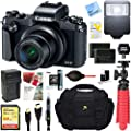 Canon PowerShot G1 X Mark III 24.2MP 3X Zoom Lens Digital Camera (Black) + Dual Battery Accessory Bundle
