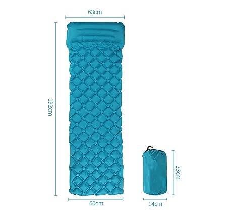 S.N LPZ Colchoneta autoinflable con colchón Inflable para Dormir ...