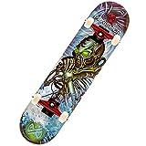 Punisher Skateboards Unisex 9018 Alien Rage Complete Skateboard with Concave Deck, Blue, 31-Inch