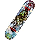 Punisher Skateboards Alien Rage Complete Skateboard with Concave Deck, Blue, 31-Inch