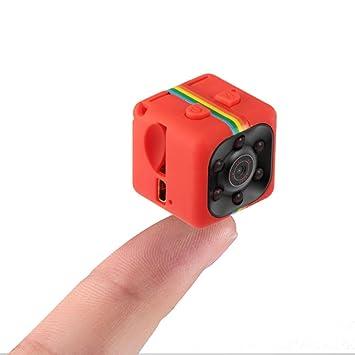 Pawaca Mini Cámara Web Cam SQ11 HD 1080P DV Cámara con Visión Nocturna, Cámara deportiva