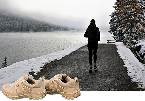 Men Women Trail Running Speed Cross Shoes National Forest Park 2.0, Soft Durable Sole With Lightweight Backpack and Sock Forest Beige