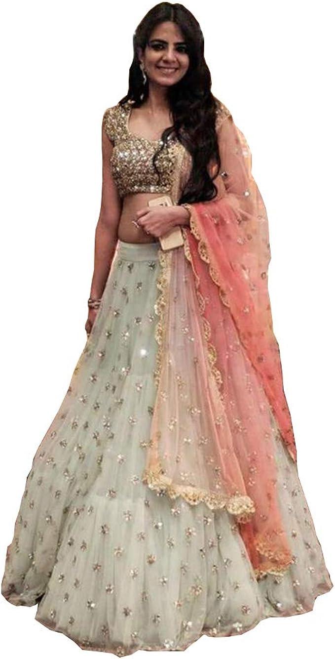 Designer Party Wear Lehenga Choli Indian Wedding Bridal Lengha Sari Trendy Culture 0066 Amazon Ca Clothing Accessories