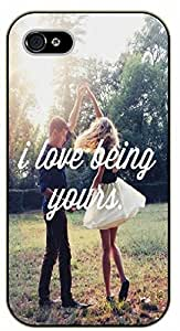 iPhone 5C I love being yours. Dance - black plastic case / Inspirational and motivational