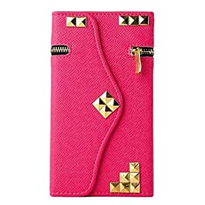 YULIN Pirate Wallet PU Leather Full Body Case with Stand for iPhone 6(Assorted Colors) , Black-White