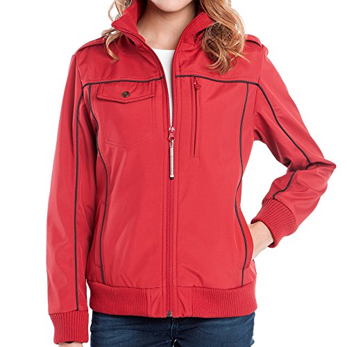 Baubax Travel Jacket - Bomber - Female - Red - Small by Baubax