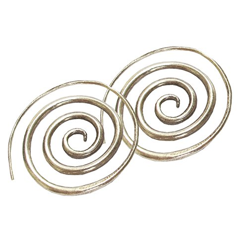 Karen Hill Tribe Coil Earring Pure Silver (Hill Coil Tribe Charms)