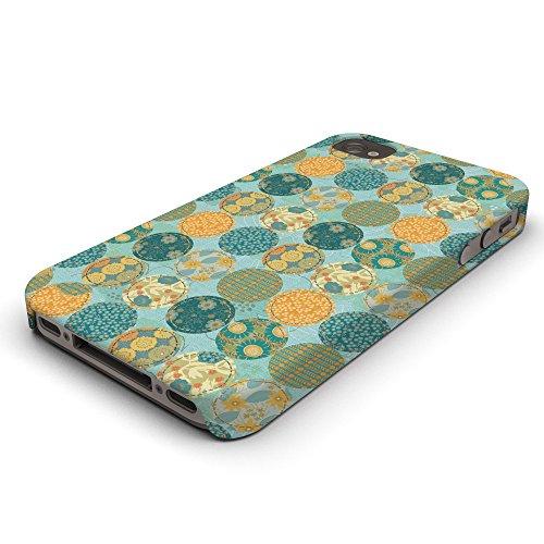 Koveru Back Cover Case for Apple iPhone 4/4S - Teal Pattern