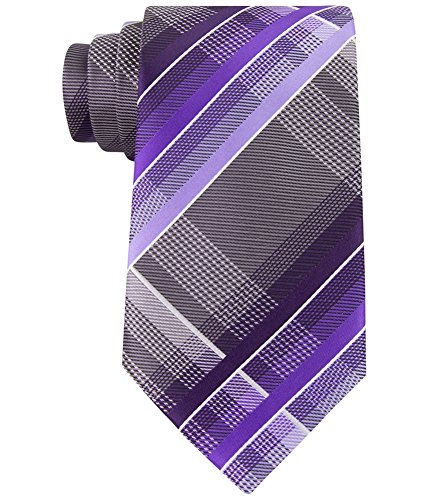 Geoffrey Beene Men's Fearless Plaid Tie, Berry, One Size