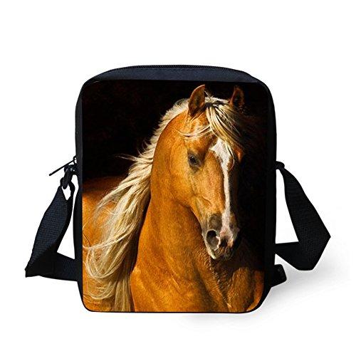 IDEA pour Marron HUGS Horse7 femme bandoulière Sac Y C663E petit Horse7 dngfXq