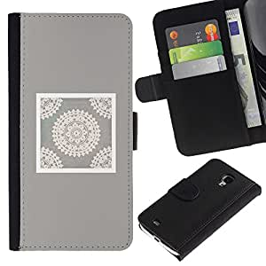 A-type Arte & diseño plástico duro Fundas Cover Cubre Hard Case Cover para iPhone 4 / 4S (Handicraft Art Drawing White)