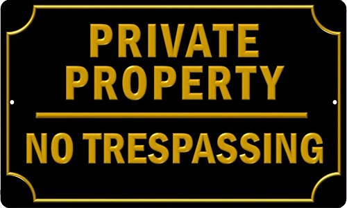 Plates By Jamie Private Property No Trespassing Sign 8