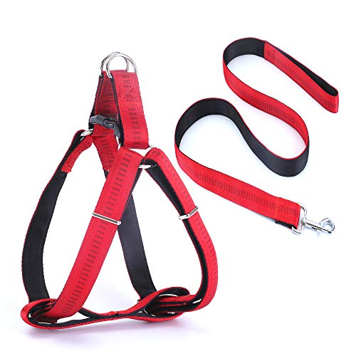Durable Dog Harness No Pull and Leash Set for Small Medium Large Dogs Walking Training Dog Leash Soft Vest Harness Easy On and Off