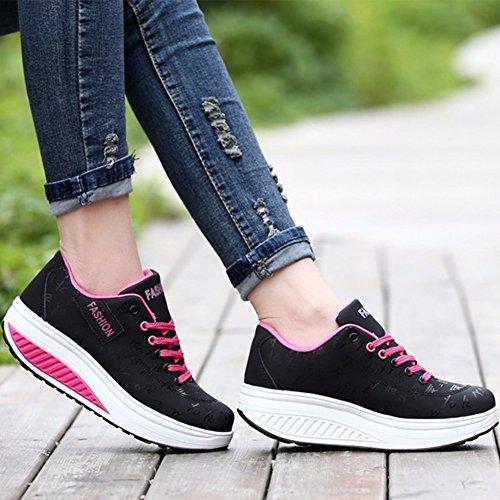 Sneaker Chaussures noir WYSBAOSHU 2 Décontractée de Marche Femmes wz64Aqv