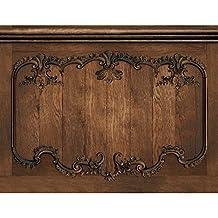 """Velvet Decor Louis Xv Rustic Oak Wainscot"" French wallcovering and wallpaper"