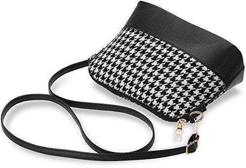 modische Damentasche zeitloses Design Karo - Muster