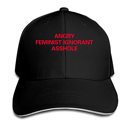 Macevoy Angry Feminist ignorant Asshole Casual Unisex Unstructured Cotton Cap Adjustable Baseball Hat Cap Black - Arcade Single Hole