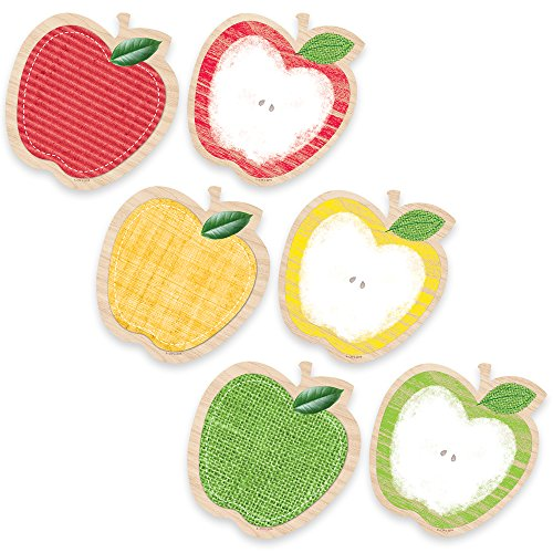 "Creative Teaching Press Upcycle Style Apples 6"" Designer Cut-Outs (6591)"