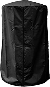 Gobabo Tabletop Heater Cover Waterproof with Zipper 38'' H x 24'' W x 24'' D Patio Heater Cover Heavy Duty Black