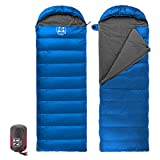 Naturehike Camping Sleeping Bag Outdoor Envelope Down Sleeping Bag Eiderdown Sleeping Bag (Light blue)