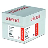 Universal 15782 Green Bar Computer Paper, 20lb, 14-7/8 x 8-1/2, Perforated Margins, 2600 Sheets