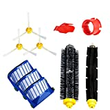 Turboom Accessories for Irobot Roomba 600 610 620 650 Series Vacuum Cleaner Replacement Part Kit - Includes 3 Pack Filter, Side Brush, 1 Pack Bristle Brush, Flexible Beater Brush and Cleaning Tool