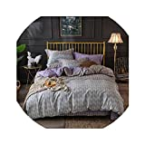 HANBINGPO Egyptian Cotton Twin Queen King Size Bedding Set Bedsheet Fitted Sheet Duvet Cover Bed Set Pillowcasea,Bedding Set 4,Twin Size 4pcs,Fitted Sheet Style