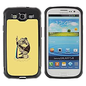 BullDog Case@ Funny Psychedelic Rainbow Toad Frog Rugged Hybrid Armor Slim Protection Case Cover Shell For S3 Case ,I9300 Case Cover ,I9308 case ,Leather for S3 ,S3 Leather Cover Case