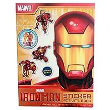 Marvel Superhero Iron Man Story / Sticker Activity Book, Kids Reading & Fun Comics-Sticker Activity Book