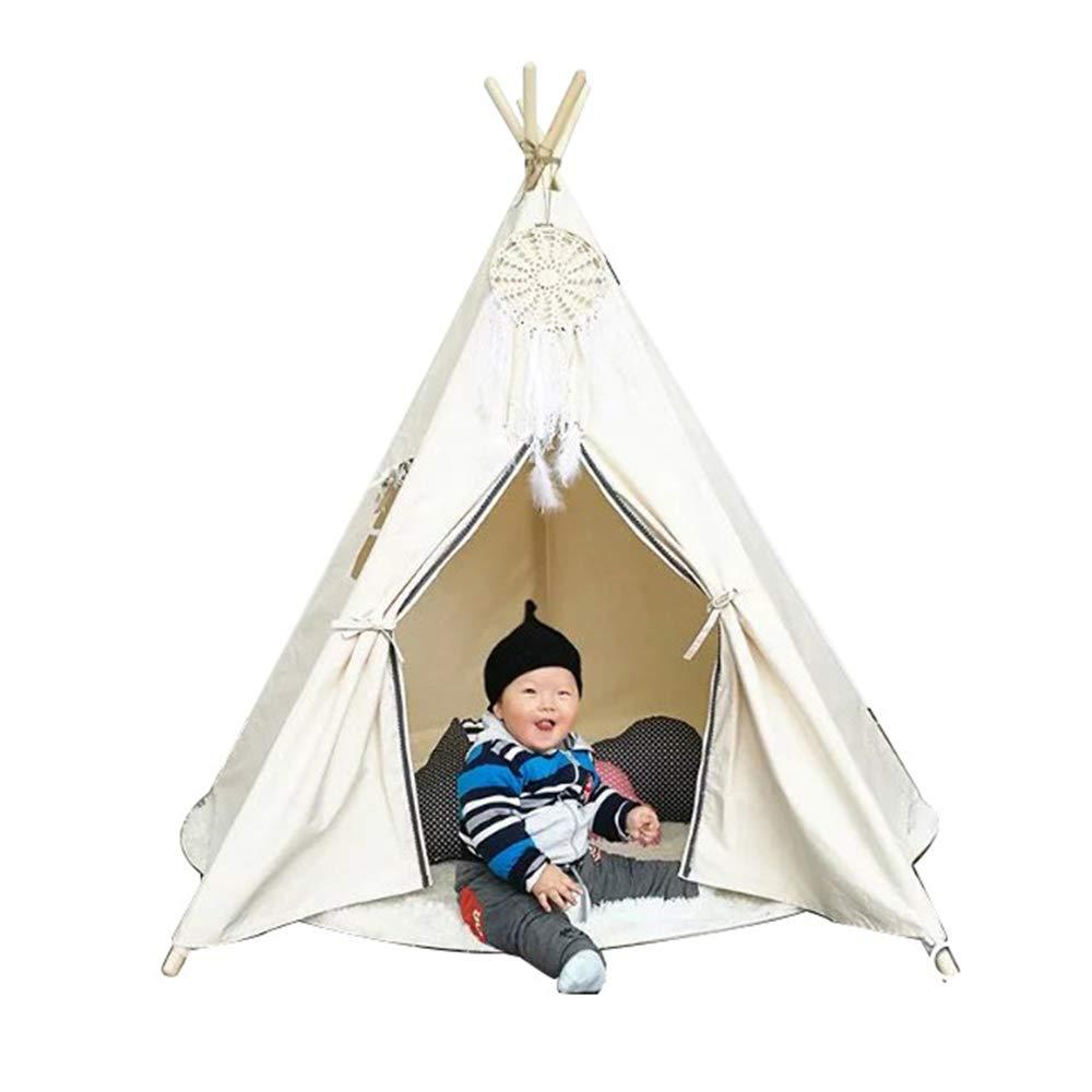 XUMING Zelt Interieur, Kinderzelte und Hütten, Toy House Schlafen, Verstecken und indische Zelte für Jungen und Mädchen, minimalistisches Weiß
