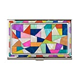 Patchwork Business Name Card Holder Credit Case Mother of Pearl
