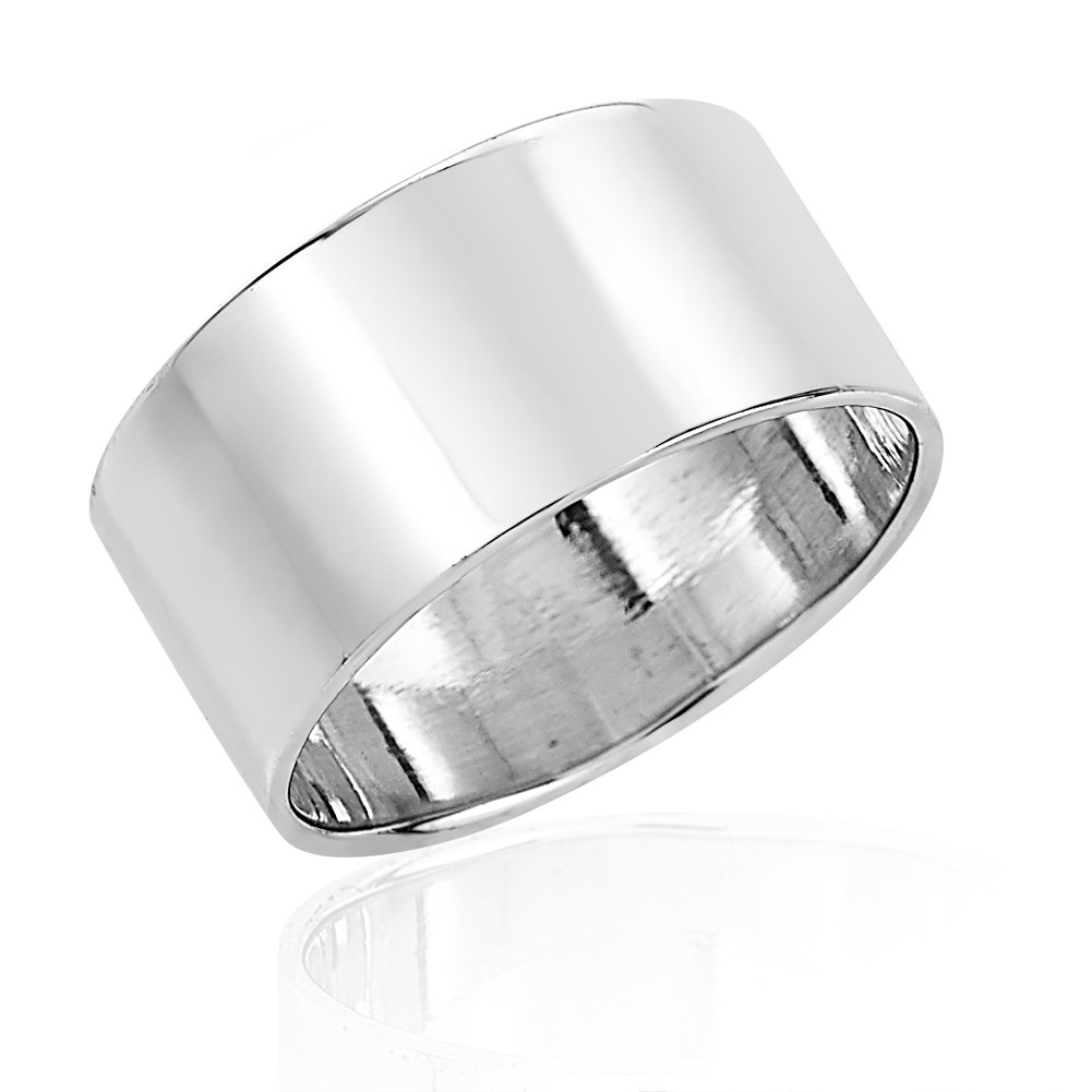 925 Sterling Silver Wide Band Above Knuckle Midi Finger or Thumb Bold Statement Ring 7mm, Size 5