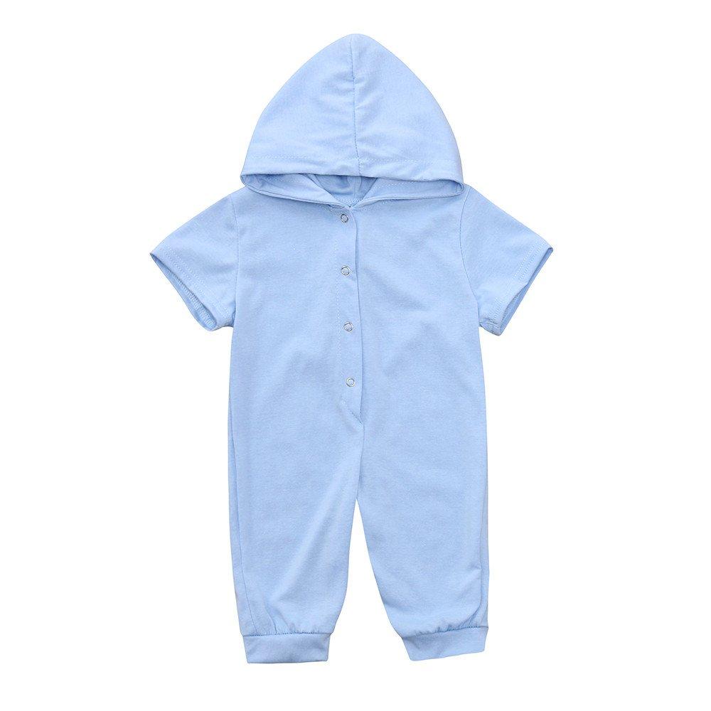 Kleider Kinderbekleidung Honestyi Neugeborenes Baby Jungen Mädchen Dinosaurier mit Kapuze Spielanzug Overall Ausstattungs Kleidung (3M 18M) Hülsen Dinosaurier hintere (Blau Roas Grau Grün, 80) Honestyi5040