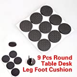 Vktech 9 PCS Round Chair Table Desk Wardrobe Foot Leg Protector Sticky Mat Cushion