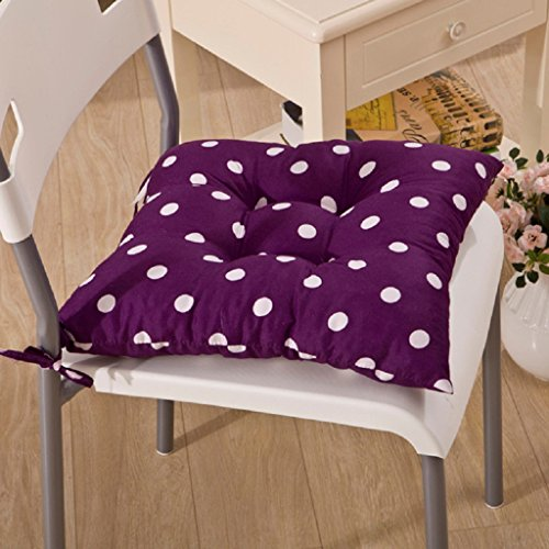 MChoice Indoor Soft Print Polka Dot Seat Pad Cushion (Purple)