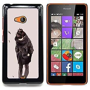"""Qstar Arte & diseño plástico duro Fundas Cover Cubre Hard Case Cover para Nokia Lumia 540 (Emo Girl 2"""")"""