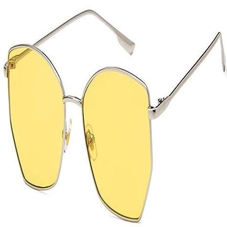 Yangjing-hl Gafas de Sol Irregulares Retro Mujeres Gafas de ...