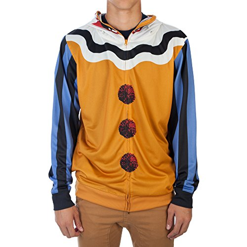 Scary Clown Clothes (Scary Clown Mens Costume Hoodie (Medium))