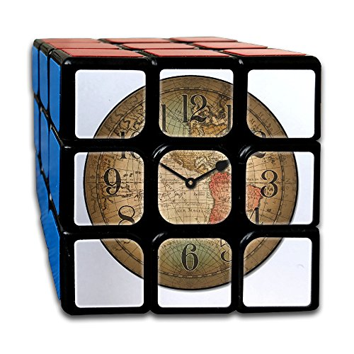 (Map Of Clock Rubiks Cube 3x3 Brain Training Game Rubix Puzzle Toy For Juniors Or Adult)
