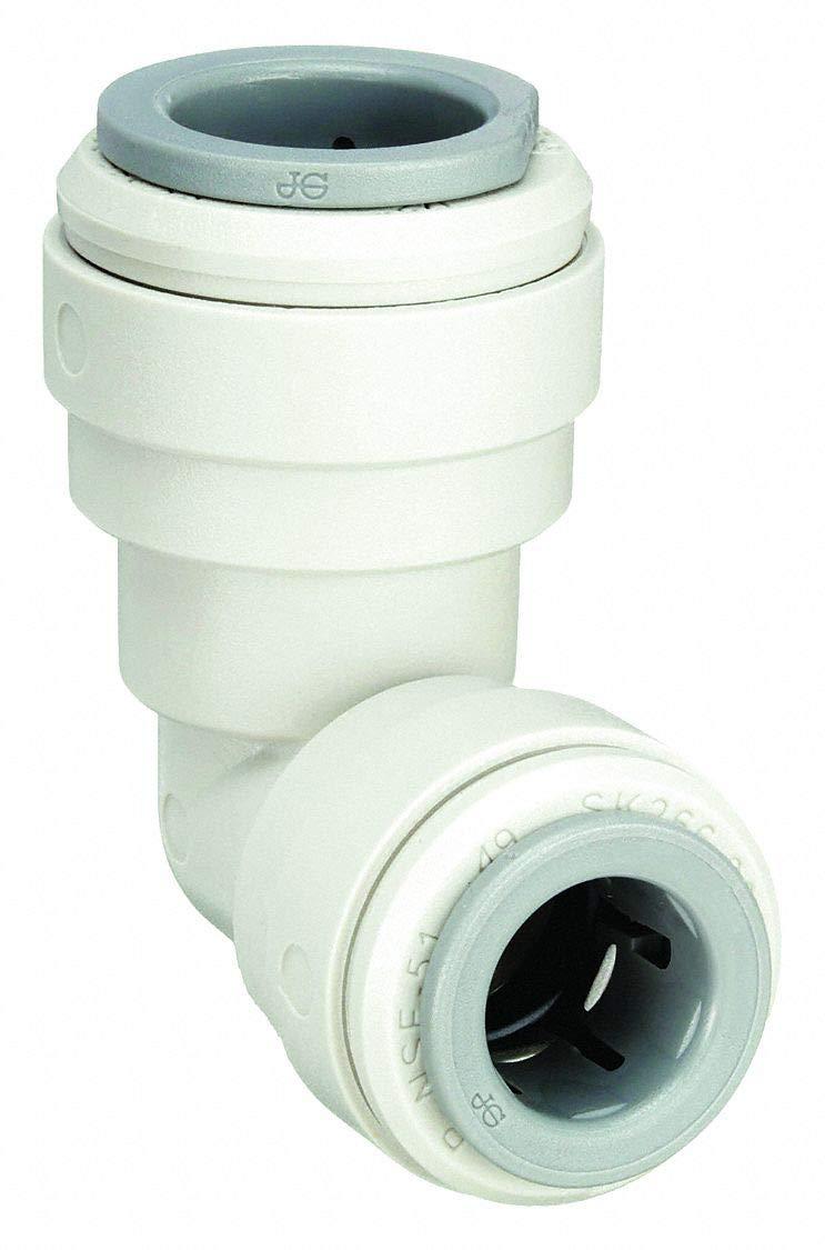 John Guest Acetal Copolymer Reducing Elbow Deg 90 5//16 x 1//4 Tube Size PI211008S-10PK