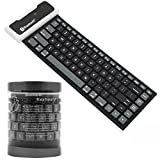 Nacome Silicone Bluetooth Keyboard ,Bluetooth Wireless Waterproof Silicone Keyboard For iPad 2 3 4 Mini For Samsung (Black)