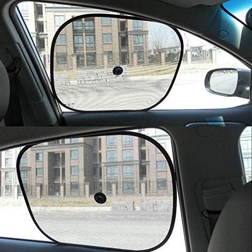 color negro YSHtanj protecci/ón contra rayos UV Parasol para ventana de coche visera de malla 2 unidades para ventana lateral plegable