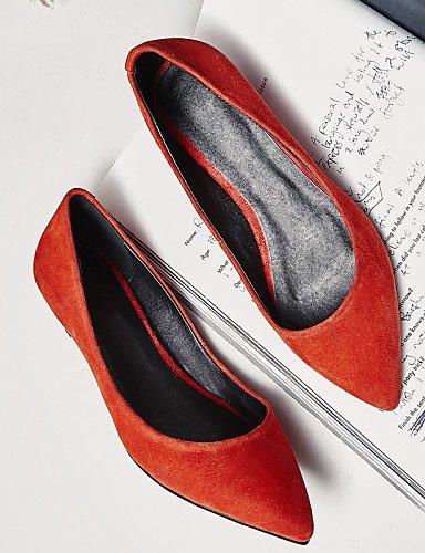casual black vestido oficina Toe Vellón PDX de cerrado carrera 5 de 5 y naranja negro Punta mujer Toe uk5 cn38 Bajo us7 zapatos Tacón Flats eu38 7ZpaqvZxHw