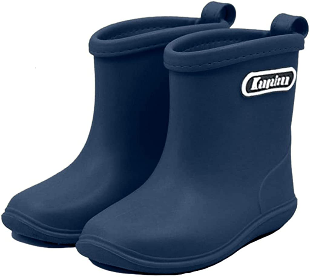 Kids Wellies Baby Rubber Rain Boots