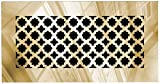 Saba Air Vent Cover Grille - Acrylic Fiberglass 6'' x 12'' Duct Opening (8'' x 14'' Overall) Gold Mirror Finish Decorative Register Covers for Walls and Ceilings NOT for Floor USE, Venetian