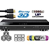 YAMAHA 2D/3D BD-S677 Wi-Fi Multi Region DVD Blu Ray Player - Worldwide Voltage (6 Feet HDMi Cable Included)