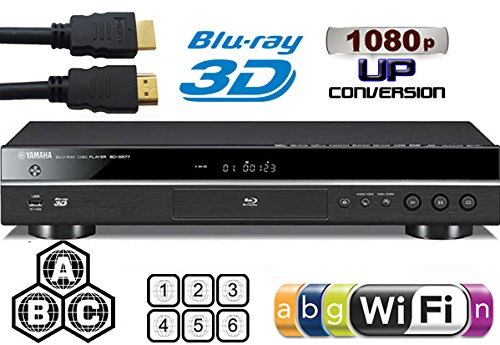 YAMAHA 2D/3D BD-S677 Wi-Fi Multi Region DVD Blu Ray Player -