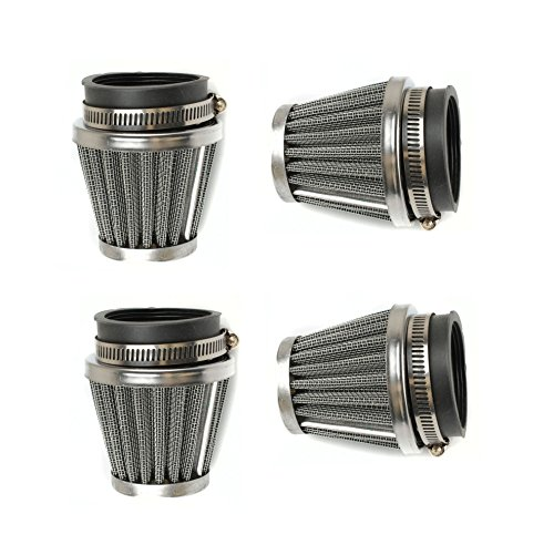(Podoy 54mm Air Filter Motorcycle for Honda CB KZ GS XS Pod Filters Cleaner Replacement CB750 CB750K CB750SC (4 Pack))