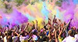 Color Powder Rainbow Packets by Chameleon Colors, 7 Individual Holi Color Packets, Color Races, Birthday Parties, and Photography Smoke. Red, Orange, Yellow, Green, Blue, Magenta, and Purple